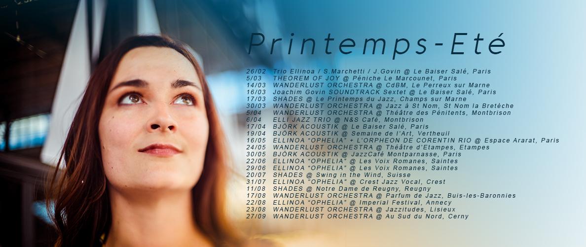 ELLINOA TOUR DATES PRINTEMPS ETE 2019 small